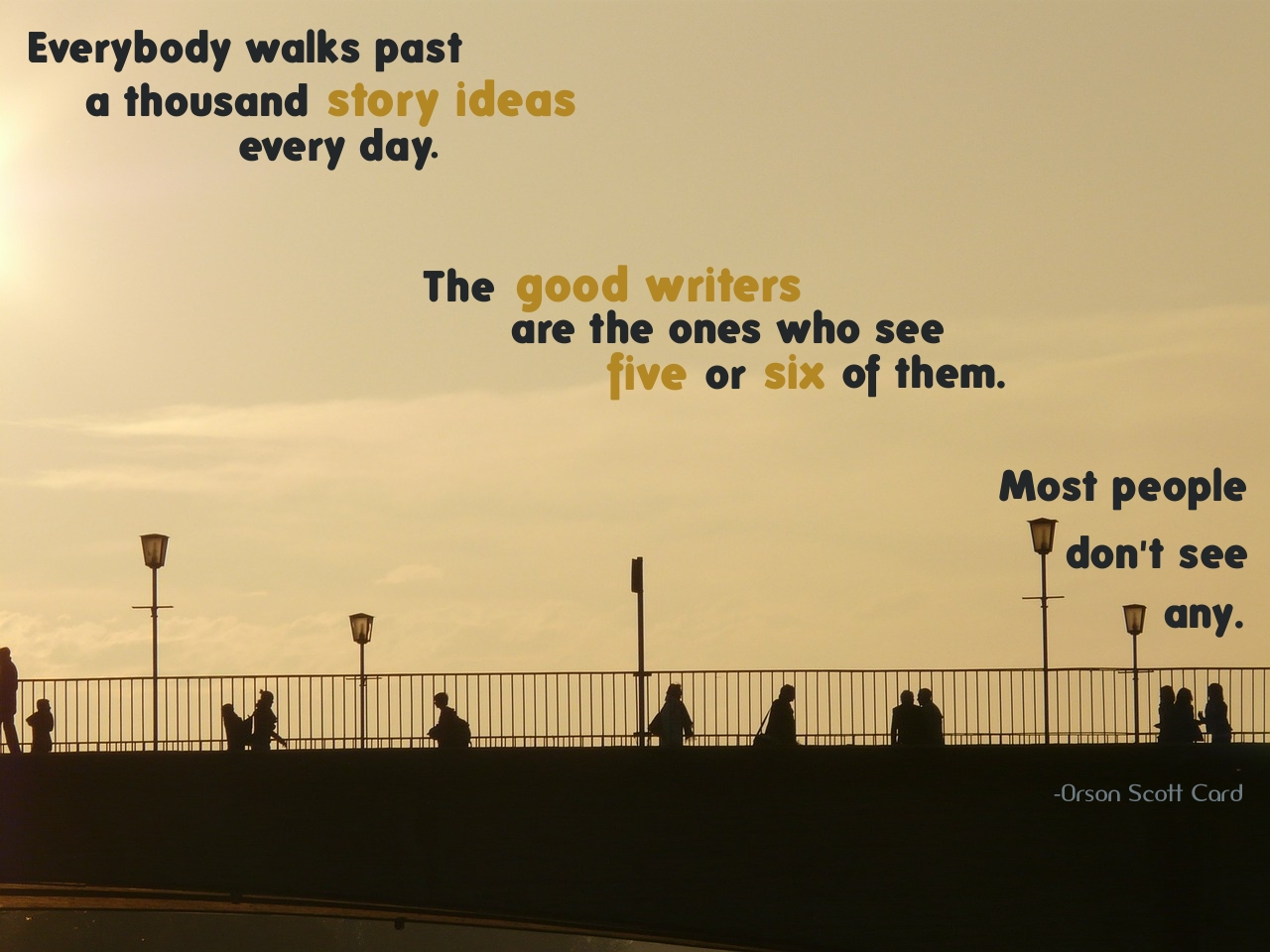 Life Quotes By Authors Walking Past A Story  Quote 24 « Mark Anthony Books